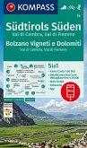 KOMPASS Wanderkarte Südtirols Süden, Bolzano Vigneti e Dolomiti, Val di Cembra, Val di Fiemme