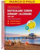 MARCO POLO Reiseatlas Deutschland 2020/2021 1:300 000, Europa 1:4 500 000