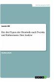 Die drei Typen der Heuristik nach Tversky und Kahnemann. Eine Analyse
