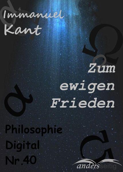 Zum ewigen Frieden (eBook, ePUB)