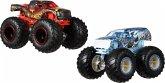 Mattel GJY44 Hot Wheels Monster Trucks 1:64 2er-Pack Scorcher vs 32 Degrees