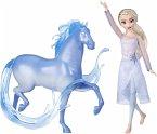 Hasbro E5516EU4 - Disney, Frozen 2, Eiskönigin Elsa und Mythischer Wassergeist Nokk, Spielset