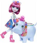 Mattel GFN56 Enchantimals Themenpack Hedda Hippo & Lake