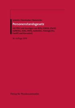 Personenstandsgesetz - Schmitz, Heribert; Bornhofen, Heinrich; Bockstette, Rainer