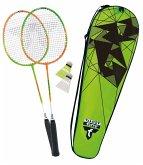 Talbot-Torro Badminton-Set 2-Attacker, 2 Schläger, 2 Federbälle, in wertiger Tasche