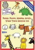 Punkt, Punkt, Komma Strich: Viele Tiere zeichne ich (mit XXL-Poster)