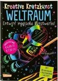 Weltraum: Set mit 10 Kratzbildern, Anleitungsbuch und Holzstift / Kreative Kratzkunst Bd.15