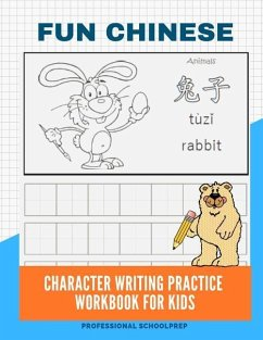 Fun Chinese Character Writing Practice Workbook for Kids: Basic Mandarin Simplified Chinese Vocabulary Flash Cards with Pinyin and English Meaning for - Schoolprep, Professional