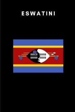 Eswatini: Country Flag A5 Notebook (6 x 9 in) to write in with 120 pages White Paper Journal / Planner / Notepad - Publishers, Katech Journal