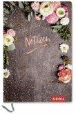 Premium Notizbuch mit Blumen