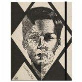 """Schweizer Broschur A5 """"Split mind"""" (black, carton)"""