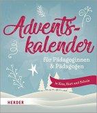 Adventskalender für Pädagoginnen und Pädagogen