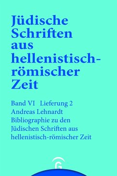 Bibliographie zu den Jüdischen Schriften aus hellenistisch-römischer Zeit (eBook, PDF) - Lenhardt, Andreas