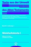 Weisheitstexte I (eBook, PDF)