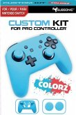 SUBSONIC Custom Kit for Pro Controller, 1 Skin (neon blau), 2 Thumb Grips für Nintendo Switch