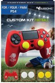 SUBSONIC Custom Kit Football, 1 Skin (rot), 2 Sätze Thumb Grips für PS4