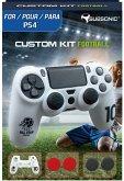 SUBSONIC Custom Kit Football, 1 Skin (weiß), 2 Sätze Thumb Grips für PS4