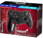 SUBSONIC Pro4 Wired Controller, black für PS4/PS3/PC