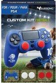SUBSONIC Custom Kit Football, 1 Skin (blau), 2 Sätze Thumb Grips für PS4
