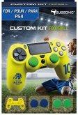 SUBSONIC Custom Kit Football, 1 Skin (gelb), 2 Sätze Thumb Grips für PS4
