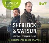 Sherlock & Watson. Neues aus der Baker Street. Die komplette erste Staffel, 5 Audio-CDs