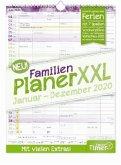 FamilienPlaner XXL 12 Monate 2020 Wandkalender, Standard einzeln