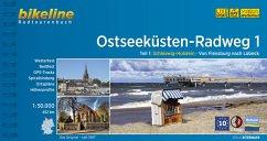 Ostseeküsten-Radweg Teil 1 1:50.000 - Fuß, Hans-Jürgen