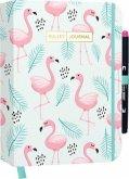 "Bullet Journal ""Flamingo"" mit original Tombow MONO edge Dual-Tip Highlighter pink"