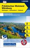 Kümmerly+Frey Outdoorkarte Fränkisches Weinland, Würzburg, Kitzingen, Ochsenfurt, Volkach