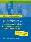 Abitur-Paket Nordrhein-Westfalen 2021. Deutsch Grundkurs - Königs Erläuterungen