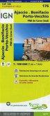IGN Karte, Tourisme et vélo Ajaccio, Bonifacio, Porto-Vecchio