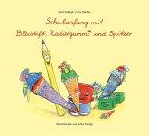 Schulanfang mit Bleistift, Radiergummi und Spitzer, Set