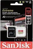 SanDisk microSDXC V30 A2 512GB Extreme 160MB SDSQXA1-512G-GN6MA