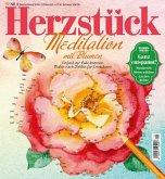 Herzstück Meditation mit Blumen