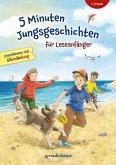5 Minuten Jungsgeschichten für Leseanfänger mit Silbenfärbung ab 6 Jahre für die 1. Klasse.