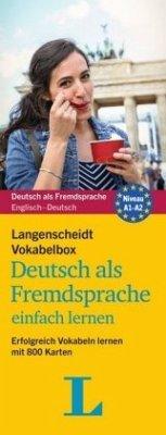 Langenscheidt Vokabelbox Deutsch als Fremdsprache einfach lernen - Box mit Karteikarten - Langenscheidt, Redaktion
