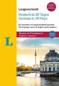 Langenscheidt Deutsch in 30 Tagen - German in 30 days - Sprachkurs mit Buch, 2 Audio-CDs, 1 MP3-CD und MP3-Download - Obergfell, Christoph