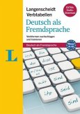 Langenscheidt Verbtabellen Deutsch als Fremdsprache - Buch mit Konjugationstrainer zum Download