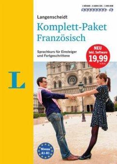Langenscheidt Komplett-Paket Französisch, 2 Bücher, 8 Audio-CDs, 1 DVD-ROM, MP3-Download