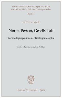 Norm, Person, Gesellschaft. (eBook, ePUB) - Jakobs, Günther
