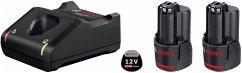 Bosch Basis Starter Set 2x2.0Ah + GAL 12V-40