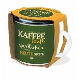 Trötsch Emaille Becher Kaffee läuft