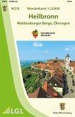Topographische Wanderkarte Baden-Württemberg Heilbronn