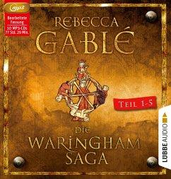 Die Waringham-Saga - Teil 1-Teil 5, 10 MP3-CDs - Gablé, Rebecca