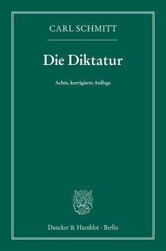 Die Diktatur. (eBook, ePUB) - Schmitt, Carl