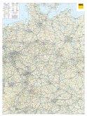 ADAC LänderKarte Deutschland 1:650 000, plano in Hülse