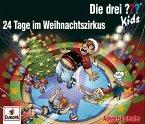 Die drei ??? Kids - Adventskalender - 24 Tage im Weihnachtszirkus, 2 Audio-CDs