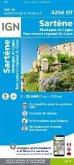 IGN Karte, Carte de randonnée (et plein air) Sartène Montagne de Cagna Parc National de Corse