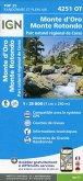 IGN Karte, Carte de randonnée (et plein air) Monte D'Oro Mont Rotondo Parc National de Corse