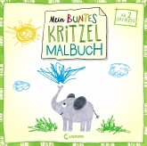Mein buntes Kritzel-Malbuch (Elefant)